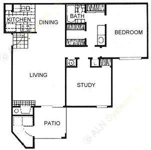925 sq. ft. floor plan