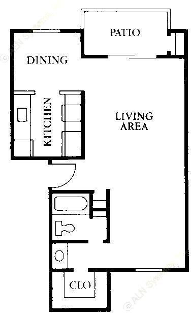 550 sq. ft. JR floor plan