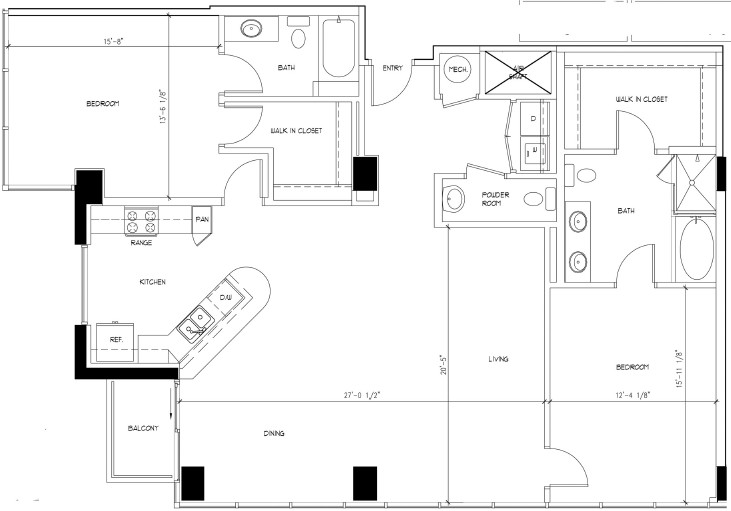1,674 sq. ft. WARHOL floor plan