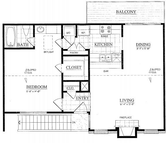 807 sq. ft. floor plan