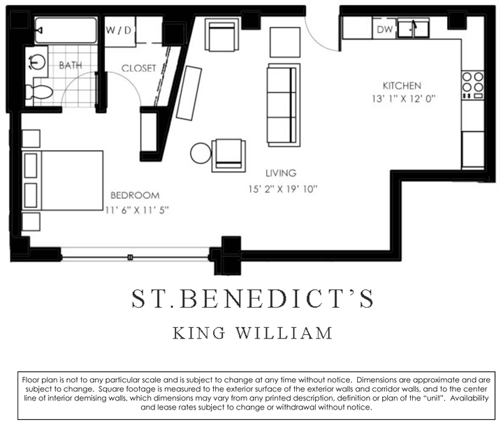 798 sq. ft. K floor plan
