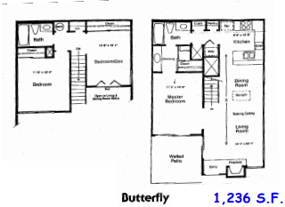 1,236 sq. ft. E floor plan