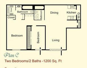 1,200 sq. ft. floor plan