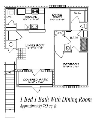 785 sq. ft. floor plan