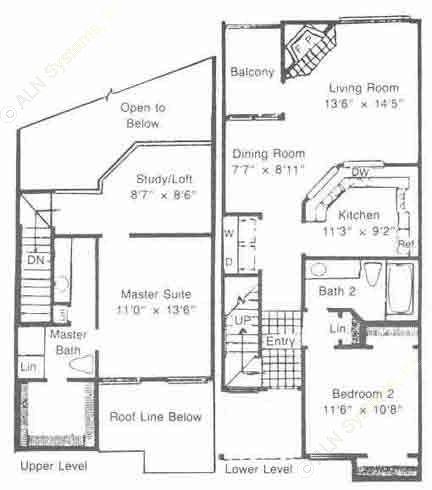 1,137 sq. ft. to 1,287 sq. ft. B3/B4 floor plan