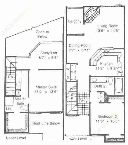 1,137 sq. ft. to 1,287 sq. ft. B3/B4 floor plan