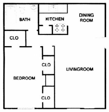 712 sq. ft. A4/ABP floor plan