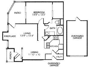 857 sq. ft. A4 floor plan