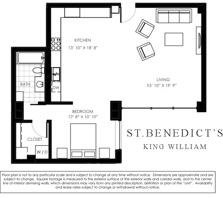 955 sq. ft. N floor plan
