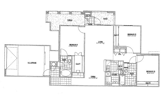 1,285 sq. ft. G3/60% floor plan