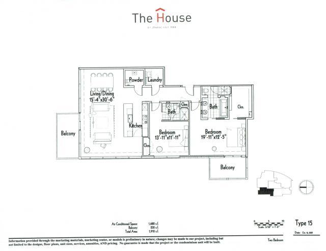 1,680 sq. ft. 15 floor plan