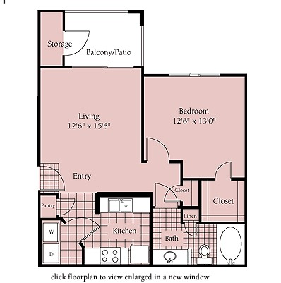 637 sq. ft. Sao Paulo floor plan