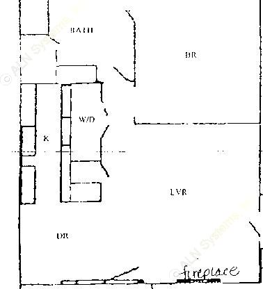 839 sq. ft. A2 Upstairs floor plan