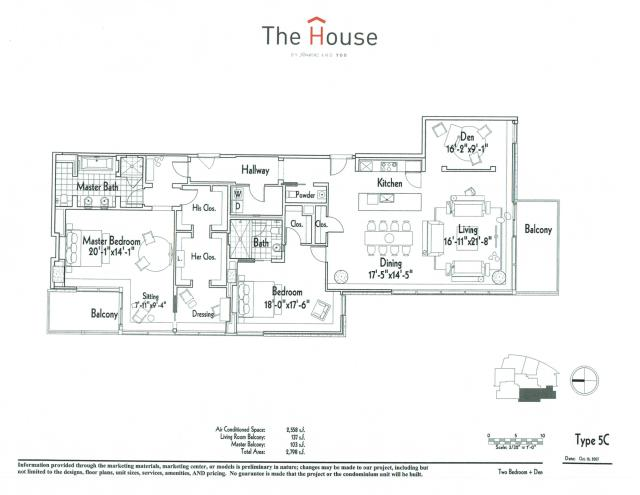 2,558 sq. ft. 5C floor plan