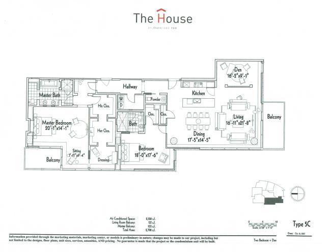 2,558 sq. ft. 5C floor plan