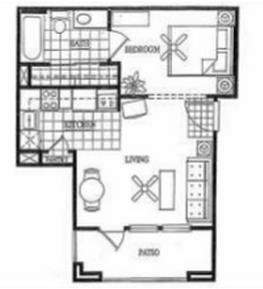532 sq. ft. A floor plan
