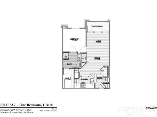 706 sq. ft. A2 HC 50 floor plan