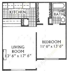 603 sq. ft. A floor plan