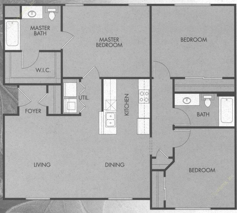 1,304 sq. ft. C1/50 floor plan