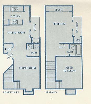 809 sq. ft. A11 floor plan