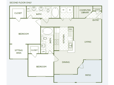 1,153 sq. ft. B6.2 floor plan