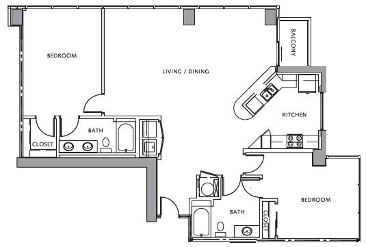 1,469 sq. ft. RENOIR floor plan