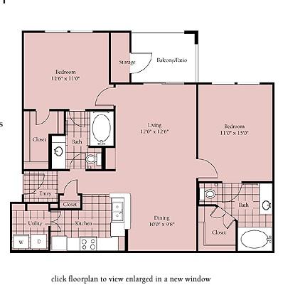 1,031 sq. ft. Brasilia floor plan