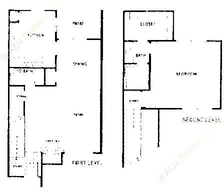 1,103 sq. ft. B1 ABP floor plan