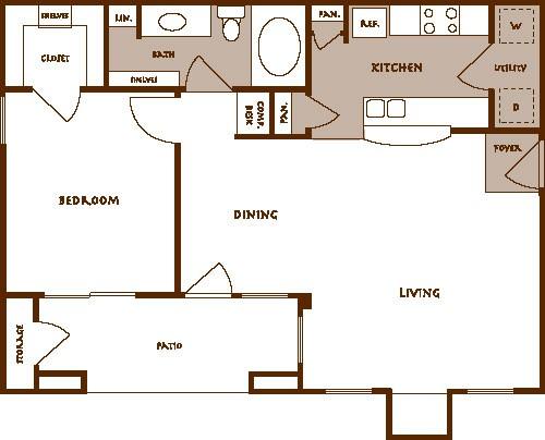 772 sq. ft. ADASTRA floor plan