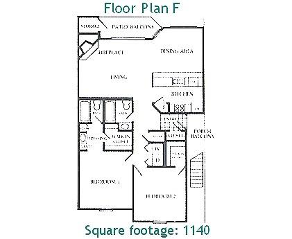 1,140 sq. ft. F floor plan