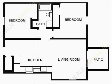 775 sq. ft. 60 floor plan