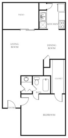702 sq. ft. A floor plan