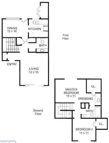 1,199 sq. ft. B9 floor plan