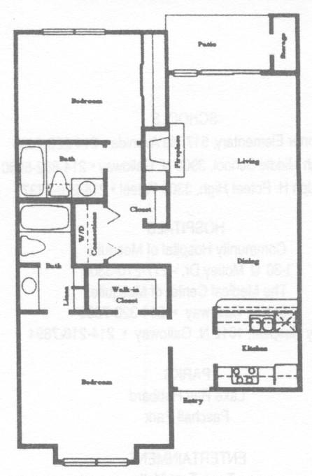 973 sq. ft. B3 floor plan