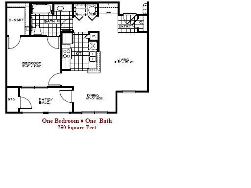 750 sq. ft. 50 floor plan