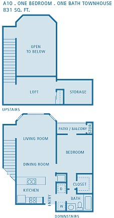 831 sq. ft. A10 floor plan