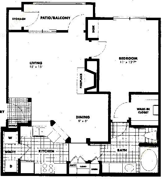 816 sq. ft. to 896 sq. ft. A4 floor plan