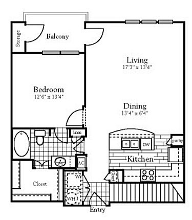 844 sq. ft. to 862 sq. ft. A4 floor plan