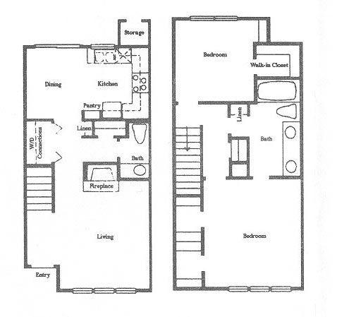 1,025 sq. ft. B4 floor plan