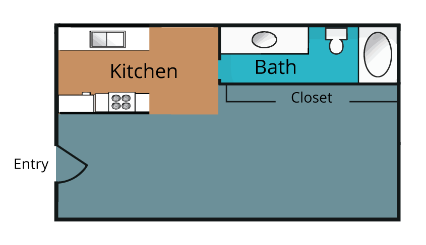380 sq. ft. floor plan