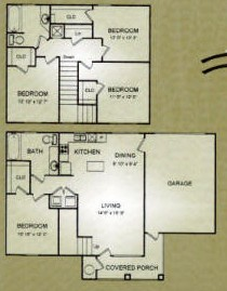 1,445 sq. ft. SWAN floor plan