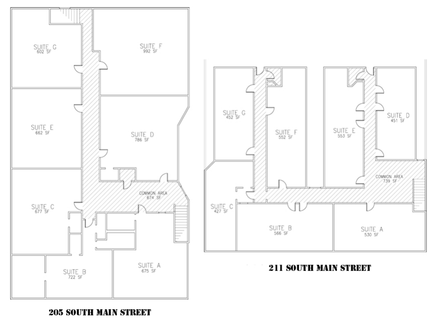 675 sq. ft. 205A floor plan