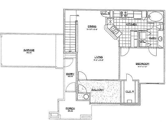 727 sq. ft. B2/60% floor plan