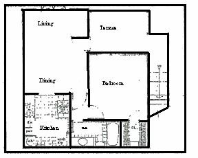 595 sq. ft. floor plan
