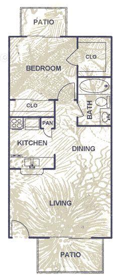 593 sq. ft. floor plan