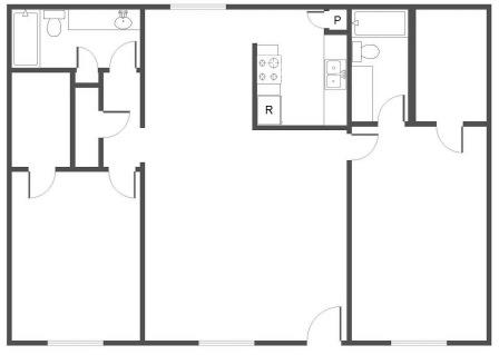 1,316 sq. ft. F floor plan