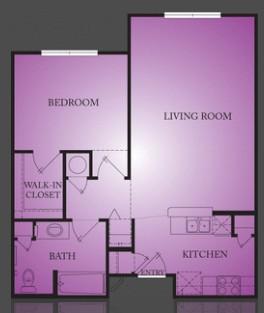 719 sq. ft. Dargan floor plan