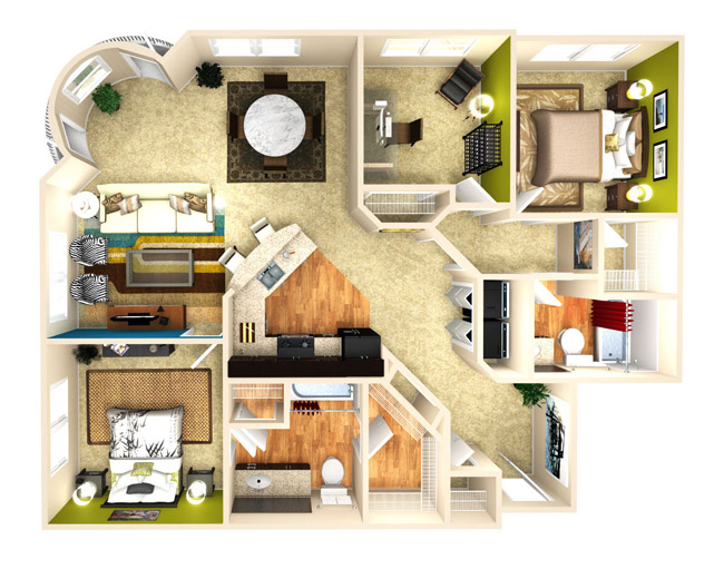 1,315 sq. ft. Elation floor plan