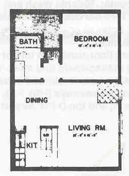 580 sq. ft. I ABP floor plan