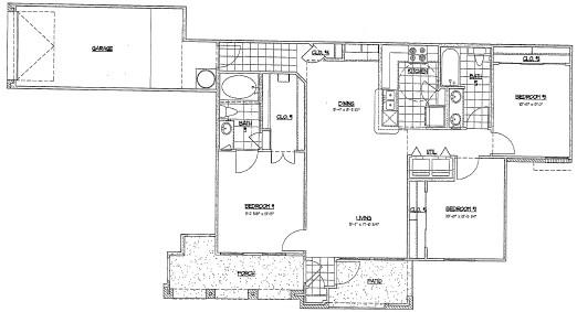 1,210 sq. ft. G1 floor plan